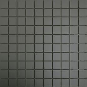 ГМ25 Зеркальная мозаика графит матовая с чипом  25х25