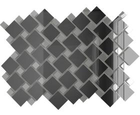 Г70С30 Зеркальная мозаика графит 25х25 (70%) + серебро 12х12 (30%) с чипом
