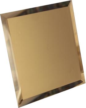 БМК-25-Зеркальная плитка бронза матовый квадрат 250х250мм фацет 10мм