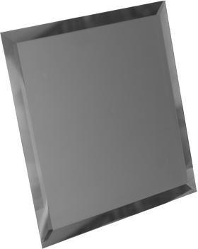 ГМК-25-Зеркальная плитка графит матовый квадрат 250х250мм фацет 10мм