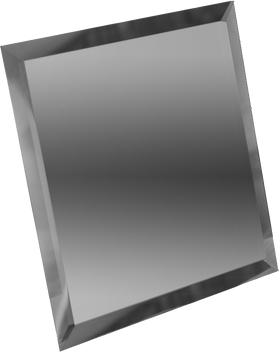 ГК-25-Зеркальная плитка графит квадрат 250х250мм фацет 10мм