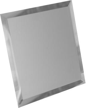 СМК-20-Зеркальная плитка серебро матовый квадрат 200х200мм фацет 10мм