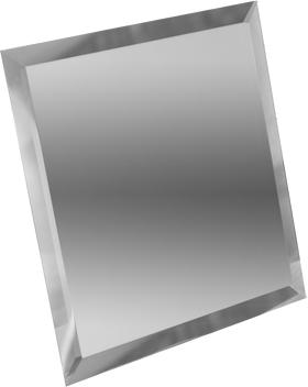 СК295-Зеркальная потолочная плитка серебро квадрат 295х295мм фацет 10мм