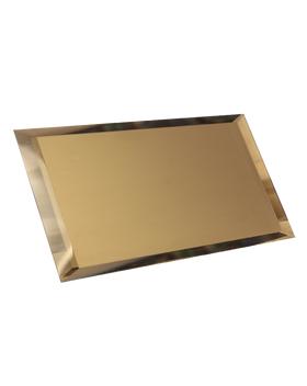 БМП-12х24-Зеркальная плитка бронза матовый прямоугольник 120х240мм фацет 10мм