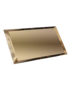 БП-12х24-Зеркальная плитка бронза прямоугольник 120х240мм фацет 10мм