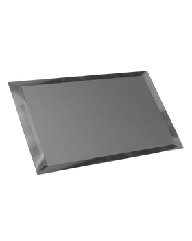 ГМП-12х24-Зеркальная плитка графит матовый прямоугольник 120х240мм фацет 10мм