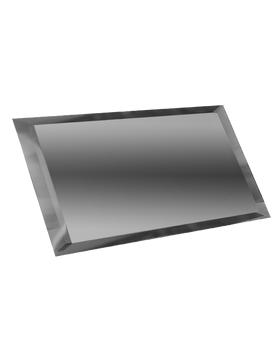 ГП-12х24-Зеркальная плитка графит прямоугольник 120х240мм фацет 10мм