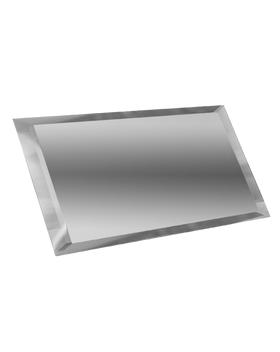 СП-10х20-Зеркальная плитка серебро прямоугольник 100х200мм фацет 10мм