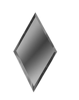 РГ300х510-Зеркальная плитка Ромб графит 300х510мм фацет 10мм