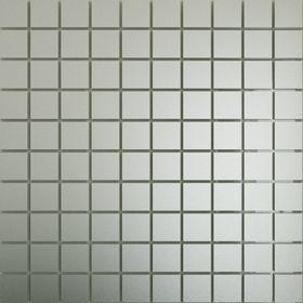 СМ25 Зеркальная мозаика серебро матовая с чипом  25х25