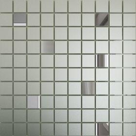 СМ90Г10 Зеркальная мозаика серебро матовая (90%) графит (10%) с чипом  25х25