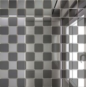 С50Г50 Зеркальная мозаика серебро (50%) графит (50%) с чипом  25х25