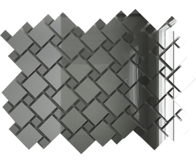 С70Г30 Зеркальная мозаика серебро 25х25 (70%) + графит 12х12 (30%) с чипом