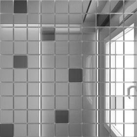 С90Г10 Зеркальная мозаика серебро (90%) графит (10%) с чипом  25х25