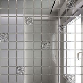 С90Х10 Зеркальная мозаика серебро (90%)+ хрусталь(10%) с чипом 25х25