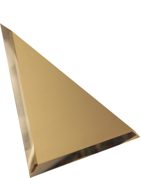 БМУ-15-Зеркальная плитка бронза матовый угол 150х150мм фацет 10мм