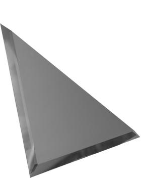 ГМУ-25-Зеркальная плитка графит матовый угол 250х250мм фацет 10мм