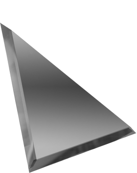 ГУ-25-Зеркальная плитка графит угол 250х250мм фацет 10мм