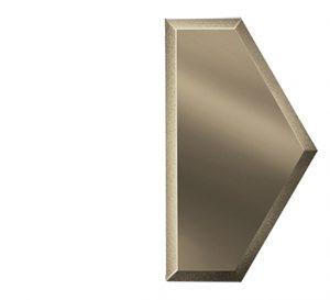 ПБМУ100х173-Зеркальная плитка Полусота бронза матовая угол 100х173мм фацет 10мм