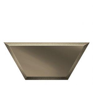 ПБМП200х86-Зеркальная плитка Полусота бронза матовая прямая 200х86мм фацет 10мм
