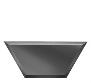 ПГМП200х86-Зеркальная плитка Полусота графит матовый прямая 200х86мм фацет 10мм