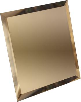 БМК295-Зеркальная потолочная плитка бронза матовый квадрат 295х295мм фацет 10мм