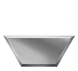 ПСМП200х86-Зеркальная плитка Полусота серебро матовое прямая 200х86мм фацет 10мм