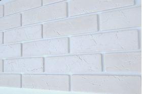ГП 300-Гипсовая плитка «КЛАССИК» Белый 220*55*5 мм