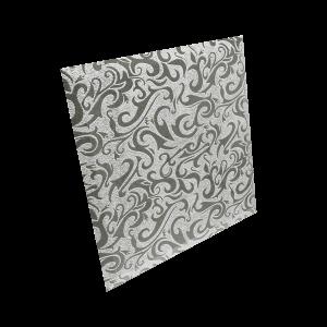 КЗСАл-2 Плитка квадратная зеркальная серебряная «Алладин-2» (200х200мм) уп. 10 шт.