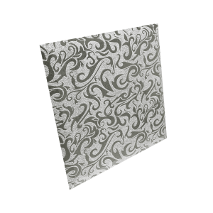КЗСАл-3 Плитка квадратная зеркальная серебряная «Алладин-3» (250х250мм) уп. 10 шт.