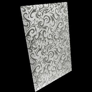 ПЗСАл-2 Плитка прямоугольная зеркальная серебряная «Алладин-2»   (250х400мм) уп. 10 шт.