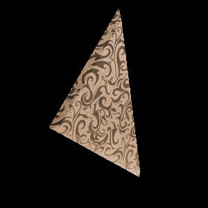 ТЗРАл-1 Плитка треугольная зеркальная рыжая «Алладин-1» (180х180мм) уп. 10 шт.