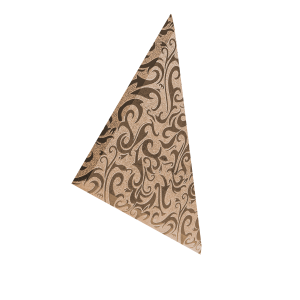 ТЗРАл-2 Плитка треугольная зеркальная рыжая «Алладин-2» (200х200мм) уп. 10 шт.