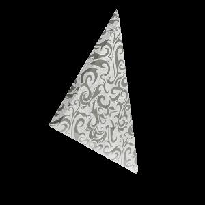 ТЗСАл-2 Плитка треугольная зеркальная серебряная «Алладин-2» (200х200мм) уп. 10 шт.