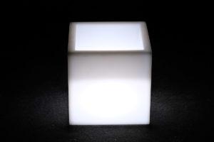 12302-Кашпо-куб PIAZZA 310х310х310мм Белый 220v