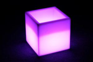 12402-Кашпо-куб PIAZZA 400х400х420мм Белый 220v