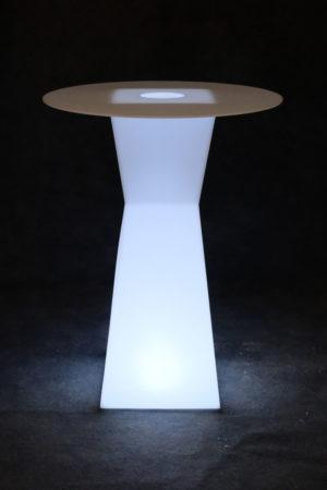 10102-Коктейльный стол PRISMO 450х450х1100мм Белый 220v