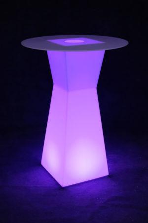 10104-Коктейльный стол PRISMO 450х450х1100мм RGBLED Аккумулятор 12v