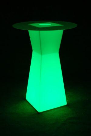 10103-Коктейльный стол PRISMO 450х450х1100мм RGBLED 220v