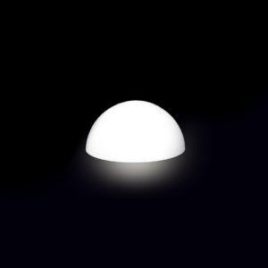 4502-Полусфера GARDA 500х250мм Белый 220v