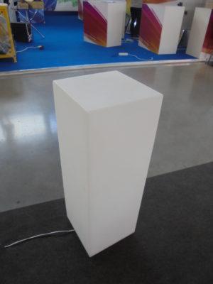 11702-Световая тумба HIGH 300х300х700мм Белый 220v