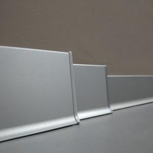AL80-3000 Плинтус плоский алюминиевый анодированный L-образный 80х11х3000мм. Матовое серебро. Цена указана за 1 шт.