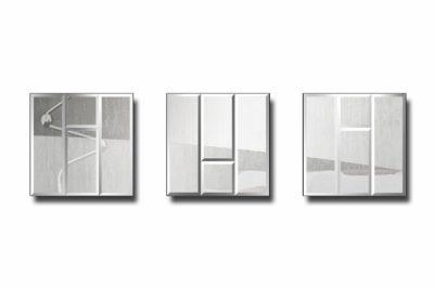 зеркальное модульное панно Прага 4