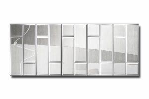 48П5-1-Зеркальное модульное панно Будапешт-1