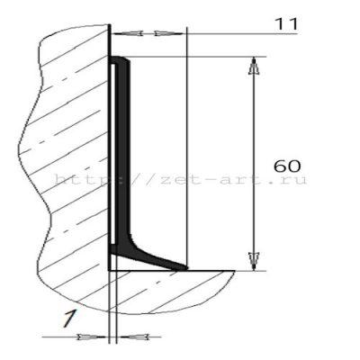 алюминиевый плинтус схема