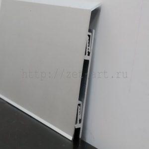 АК70-2450 Плинтус с кабель каналом алюминиевый анодированный Г-образный 70х10х2450мм. Матовое серебро. Цена указана за 1 шт.