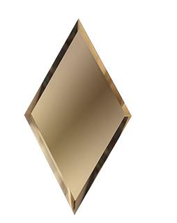 РБМ200х340-Зеркальная плитка Ромб бронза матовая 200х340мм фацет 10мм