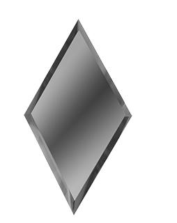 РГМ200х340-Зеркальная плитка Ромб графит матовый 200х340мм фацет 10мм