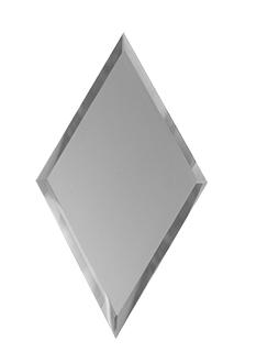 РСМ200х340-Зеркальная плитка Ромб серебро матовое 200х340мм фацет 10мм