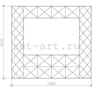 IN11 — Зеркальное панно индивидуального размера 2360х2140